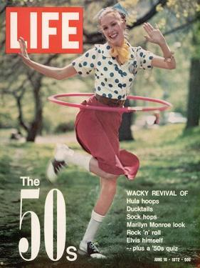 Girl using Hula Hoop, Revival of Fashions and Fads of the 1950's, June 16, 1972 by Bill Ray