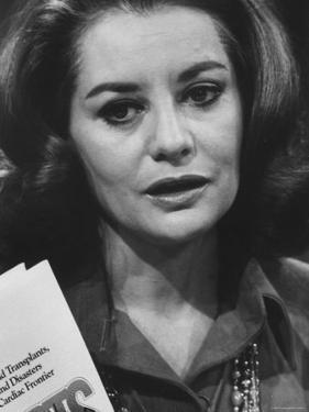 Host of NBC Program Barbara Walters by Bill Ray