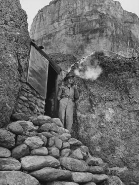 Prospector Chuck Aylor Searching in Superstition Mountains of Southern Ariz. for Lost Gold Mine by Bill Ray