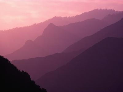 Foggy Hills in Sequoia National Park