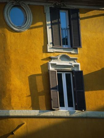 Shuttered Windows on Yellow Building by Bill Ross
