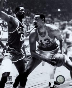 Bill Russell and  Wilt Chamberlain