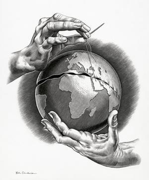 Healing the World, Conceptual Artwork by Bill Sanderson