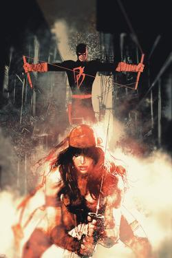 Daredevil No. 6 Cover Art Featuring: Daredevil, Elektra by Bill Sienkiewicz