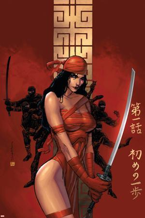 Elektra The Hand No.1 Cover: Elektra Fighting