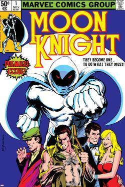 Moon Knight No.1 Cover: Moon Knight by Bill Sienkiewicz