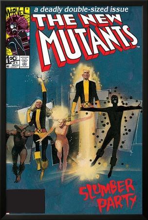 The New Mutants No.4 Cover: Sunspot, Cannonball, Magik, Magma, Wolfsbane and New Mutants