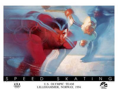 U.S. Olympic Team Speed Skating Lillehammer, c.1994