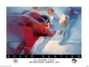U.S. Olympic Team Speed Skating Lillehammer, c.1994 by Bill Sienkiewicz