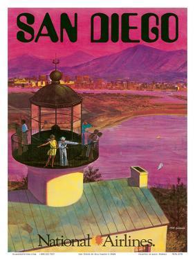 San Diego, USA - Cabrillo Monument Lighthouse by Bill Simon