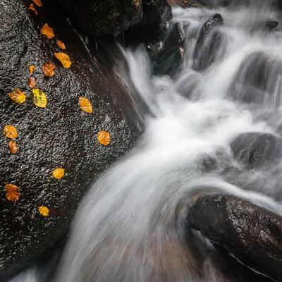 Waterfall, Hardcastle Crags, Calderdale, Yorkshire, England, United Kingdom, Europe