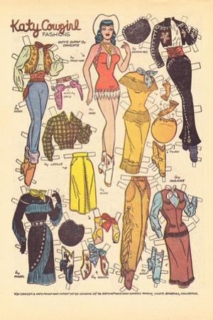 Archie Comics Retro: Katy Keene Cowgirl Fashions (Aged) by Bill Woggon