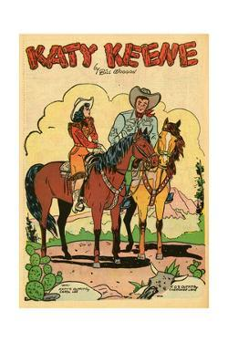 Archie Comics Retro: Katy Keene Cowgirl Pin-Up with K.O. Kelly (Aged) by Bill Woggon