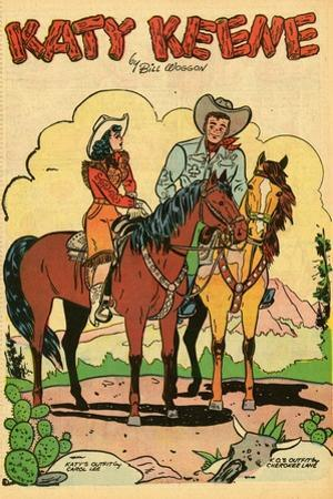 Archie Comics Retro: Katy Keene Cowgirl Pin-Up with K.O. Kelly (Aged)