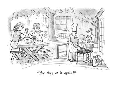 """""""Are they at it again?"""" - New Yorker Cartoon"""