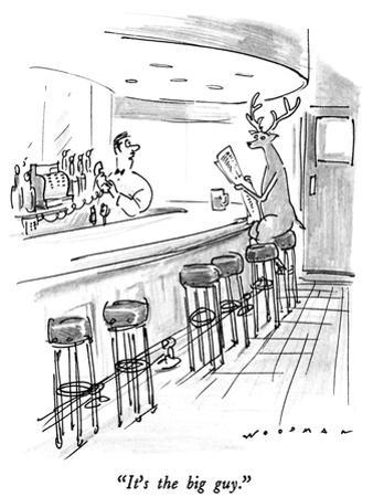 """It's the big guy."" - New Yorker Cartoon"