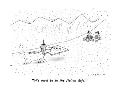 """We must be in the Italian Alps."" - New Yorker Cartoon"