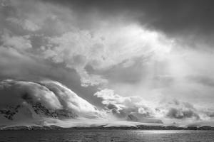 Antarctica, South Atlantic. Stormy Snow Clouds over Peninsula by Bill Young