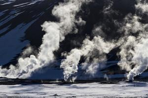 Geothermal steam vents, Hverir, Iceland. by Bill Young