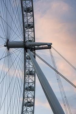 Great Britain, London. Close-up of London Eye Ferris Wheel by Bill Young