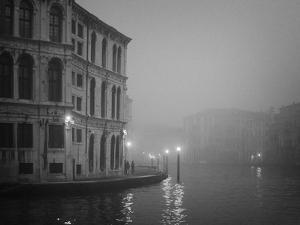 Italy, Venice. Building with Grand Canal on Foggy Morning by Bill Young