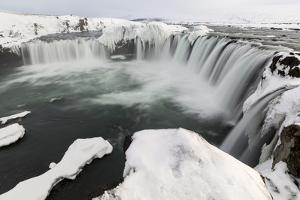 Landscape of waterfalls, Godafoss, Iceland. by Bill Young