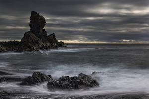 Stormy shoreline scenic, Dritvik, Iceland. by Bill Young