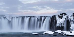 View of waterfall, Godafoss, Iceland. by Bill Young