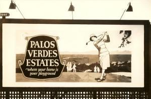 Billboard, Palos Verdes Estates, Golfer