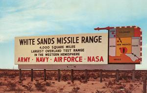Billboard, White Sands Missile Range, New Mexico