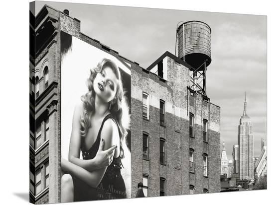 Billboards in Manhattan Number 1-Julian Lauren-Stretched Canvas Print
