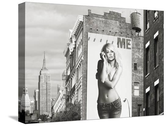 Billboards in Manhattan Number 2-Julian Lauren-Stretched Canvas Print