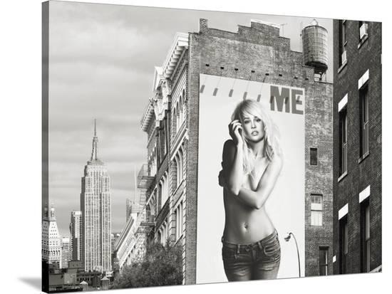 Billboards in Manhattan Number 2-Julian Lauren-Stretched Canvas