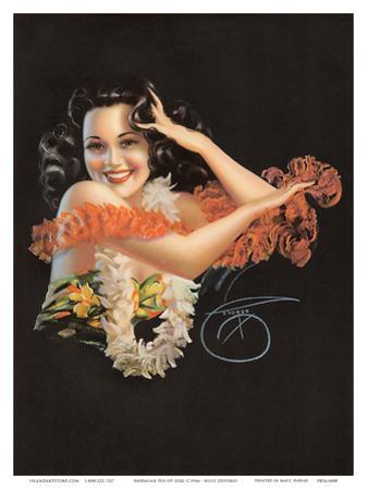 Hawaiian Pin Up Girl c.1946 by Billy Devorss