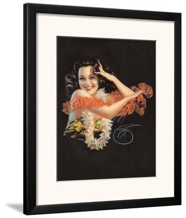 Hawaiian Pin Up Girl c.1946
