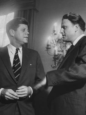 Billy Graham Speaking with President John F. Kennedy at a Prayer Breakfast