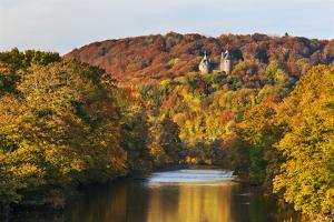 Castle Coch (Castell Coch) (The Red Castle) in autumn, Tongwynlais, Cardiff, Wales, United Kingdom, by Billy Stock