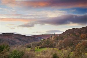 Castle Coch (Castell Coch) (The Red Castle), Tongwynlais, Cardiff, Wales, United Kingdom, Europe by Billy Stock