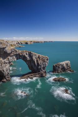 Green Bridge of Wales, Pembrokeshire Coast, Wales, United Kingdom by Billy Stock