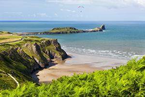 Rhossili Bay, Gower Peninsula, Wales, United Kingdom, Europe by Billy Stock