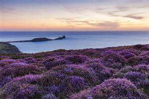 Rhossili Bay, Worms End, Gower Peninsula, Wales, United Kingdom, Europe by Billy Stock