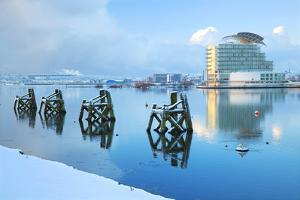 St. David's Hotel and Spa in snow, Cardiff, Bay, Wales, United Kingdom, Europe by Billy Stock