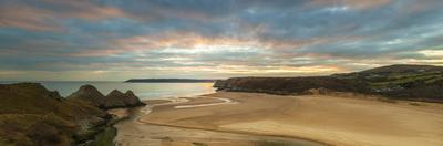 Three Cliffs Bay, Gower, Peninsula, Swansea, West Glamorgan, Wales, United Kingdom, Europe by Billy Stock