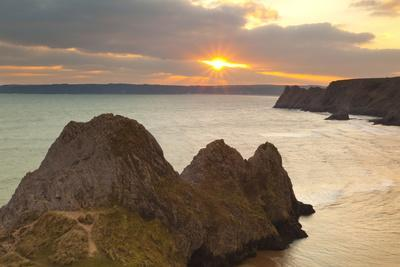 Three Cliffs Bay, Gower, Wales, United Kingdom, Europe