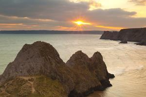 Three Cliffs Bay, Gower, Wales, United Kingdom, Europe by Billy Stock
