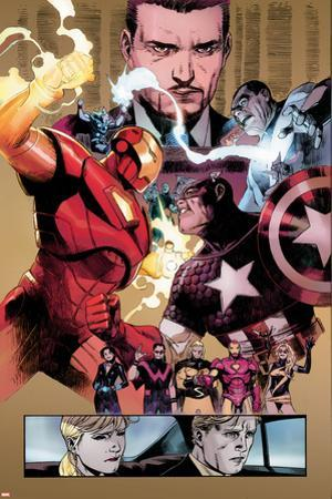 New Avengers No.48 Group: Captain America, Spider Woman, Ronin and Wolverine