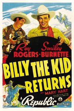 Billy The Kid Returns, Smiley Burnette, Roy Rogers, 1938