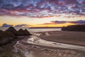 Three Cliffs Bay, Gower, Wales, United Kingdom, Europe by Billy