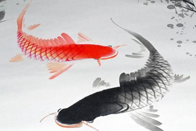 Asian Ink Design Elements