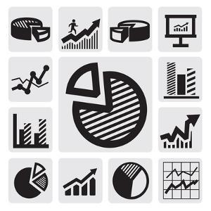 Business Chart Icons by bioraven